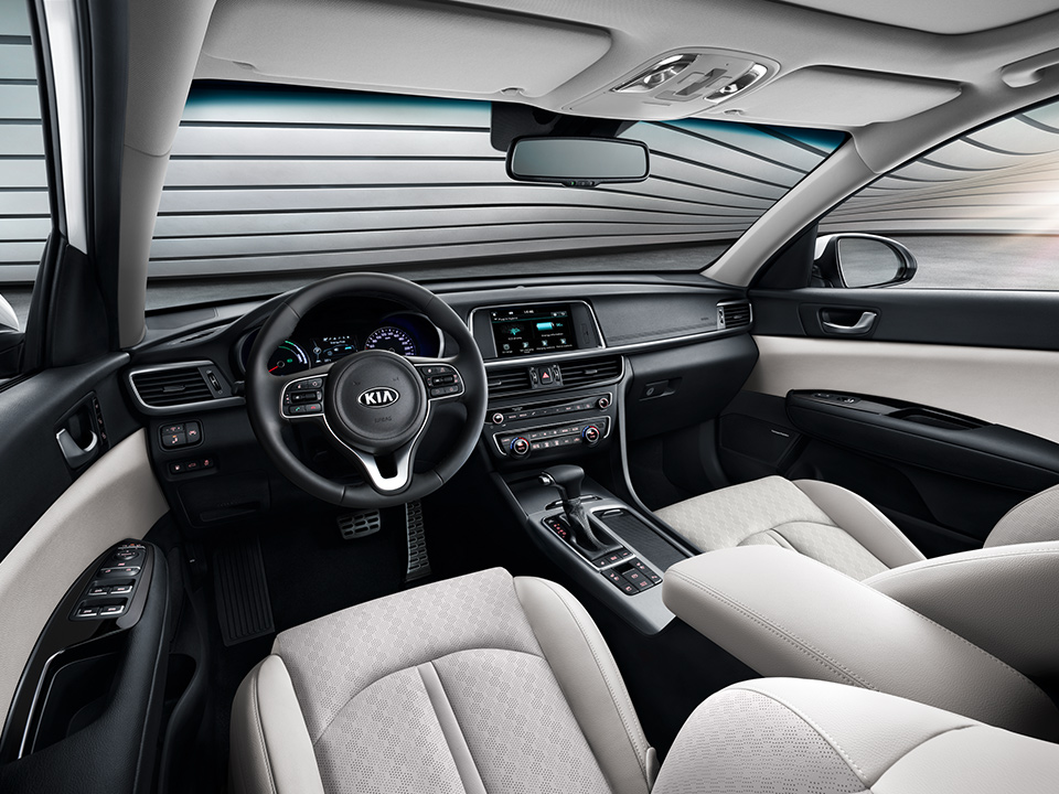 Kia Optima Sportswagon Plug-in Hybrid interior