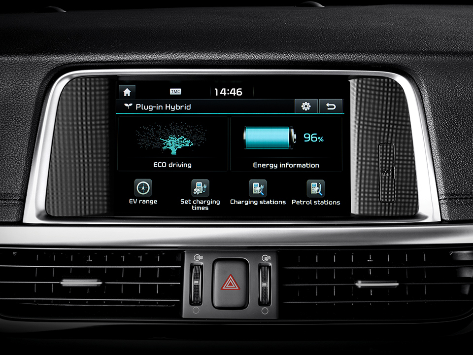 Kia Optima Sportswagon Plug-in Hybrid cluster