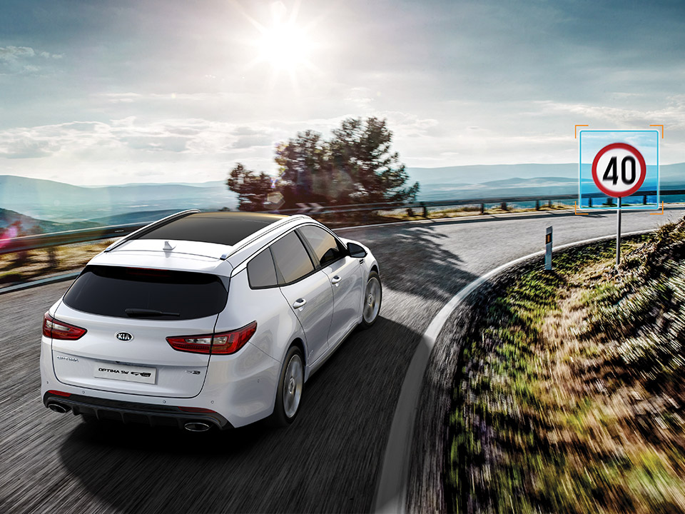 Kia Optima Sportswagon speed limit information function